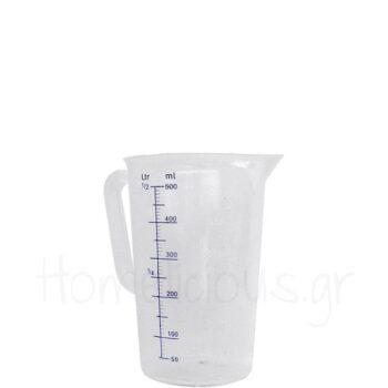 Κανάτα Μεζούρα CL [Φ9|14 cm] 500 ml PP Διάφανο|Hendi