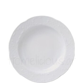 Πιάτο Βαθύ FLORA [Φ24 cm] Πορσελάνη Λευκό Gural