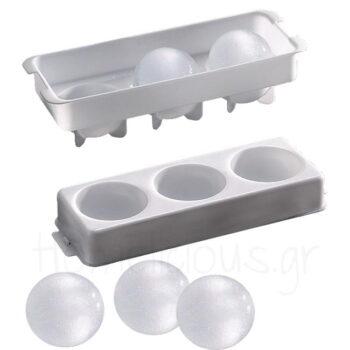 Καλούπι Πάγου Για (Σφαίρες Φ6 cm) Πλαστικό Λευκό|APS Bar Supply