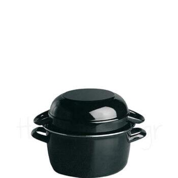 Κατσαρόλα Για Μύδια [Φ13,5 cm|0,5 kg] Μέταλλο Μαύρο|APS