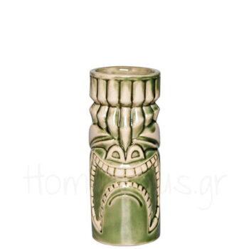 Tiki KUNA LOA 33 cl Κεραμικό Πράσινο|APS Bar Supply