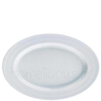 Πιατέλα LIZBON [39x27 cm] Πορσελάνη Λευκό|Gural