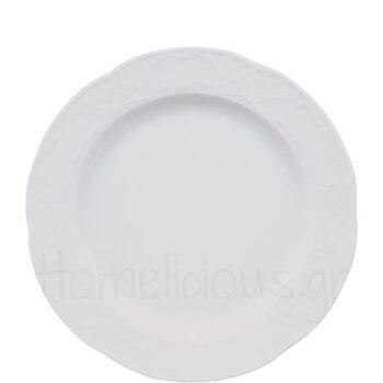 Πιάτο Ρηχό FLORA Πορσελάνη Λευκό|Gural