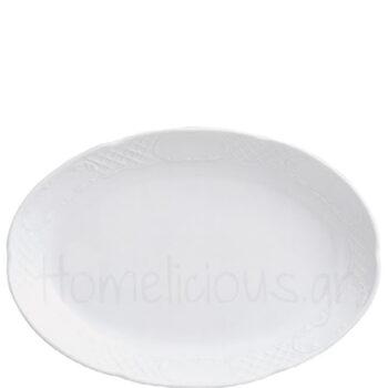 Πιατέλα FLORA Οβάλ [36x25 cm] Πορσελάνη Λευκό|Gural