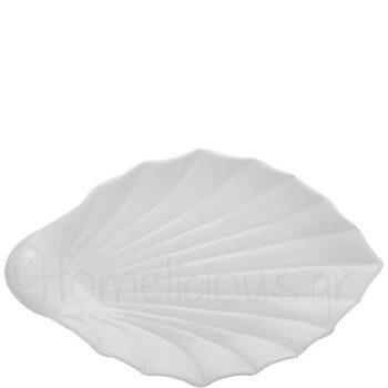 Πιατέλα SHELL Πλατιά 41 cm Πορσελάνη Λευκό|Gural