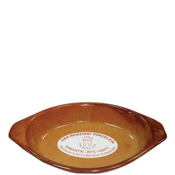 Σαγανάκι Οβάλ [26x15 cm] Πυρίμαχο Καφέ|PKS