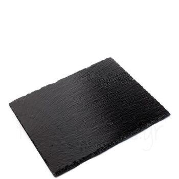 Πλατό Σερβ [45x30 cm] Φυσ Πέτρα Μαύρο|APS