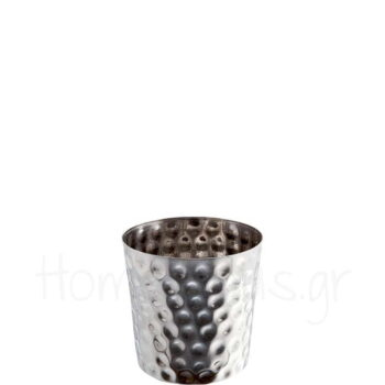 Julep Cup FLAT Hammered 42 cl Inox Ασημί|APS