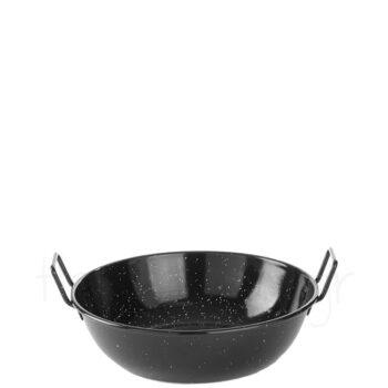 Σαγανάκι Παέγιας [Φ24|7 cm] Εμαγιέ Μαύρο|Hendi