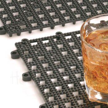 Drip Mat [30,5x30,5 cm] Πλαστικό Μαύρο|APS Bar Supply