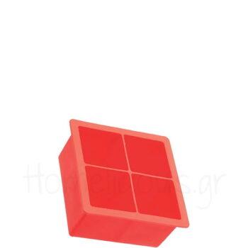 Καλούπι Πάγου Για (Κύβους 4,5x4,5 cm) Σιλικόνη Κόκκινο|Kitchen C