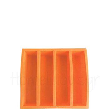 Καλούπι Πάγου Για (Παγάκι 13,2x3x3 cm) Σιλικόνη Πορτοκαλί|APS Ba