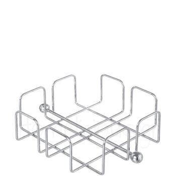 Χαρτοπετσετοθήκη (50 Χαρτοπετσέτες) [19x19|6,5 cm] Μέταλλο Χρώμι