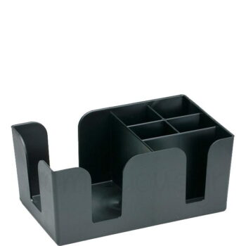 Bar Organizer [24,5x14,5|10,5 cm] Πλαστικό Μαύρο|Hendi