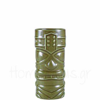 Tiki 4 FACES 40 cl Κεραμικό Πράσινο|GenWare