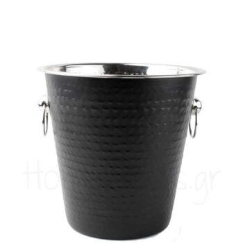 Σαμπανιέρα Σφυρήλατη [Φ21,5|21 cm] Inox Μαύρο/Ματ|Yong