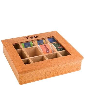 Κουτί Για Φακελάκια TEA 12Θ [31x28 9 cm] Ξύλο Καφέ APS