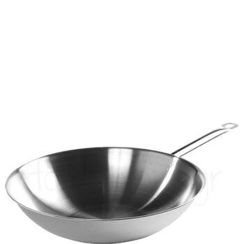 Τηγάνι Wok 3-ply [Φ36|9 cm] Inox Ασημί|Hendi