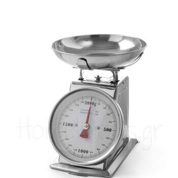 Ζυγαριά Κουζίνας (2 kg/10 gr]) [21x14|26 cm] Inox Ασημί|Hendi