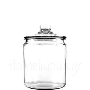 Δοχείο Αποθ (Με Καπάκι) 3,8 lt Γυαλί Διάφανο Anchor