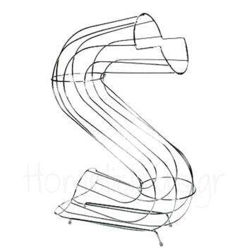 Φρουτιέρα [12x35|41 cm] Μέταλλο Ασημί|Cosy & Trendy