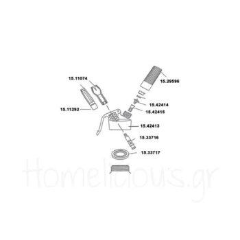 Αντ/κό Σιφόν (3 Τεμ) [Σετ κορνέ] Πλαστικό Λευκό GTSA
