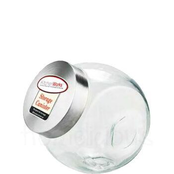 Δοχείο Αποθ CARAMEL Inox Καπάκι 2,2 lt Γυαλί Διάφανο|SinoGlass