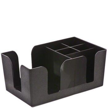 Bar Organizer [25x15|10,5 cm] Πλαστικό Μαύρο|GTSA