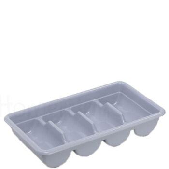 Κουταλοθήκη 4 Θέσεων [53x30|10 cm] Πλαστικό Γκρί|GTSA