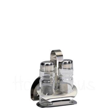 Αλατοπίπερο TAVERNA 3 Θέσεων Inox Ασημί|GTSA