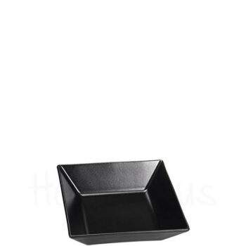 Πιάτο Βαθύ STONE [17,5x17,5 cm] Stoneware Μαύρο Elite