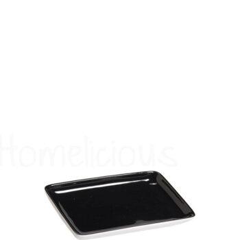 Πιατελάκι TETRA 1281 [14,5x9 cm] Πορσελάνη Μαύρο|Apulum