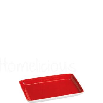 Πιατελάκι TETRA 1281 [14,5x9 cm] Πορσελάνη Κόκκινο|Apulum
