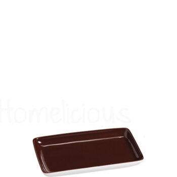 Πιατελάκι TETRA 1281 [14,5x9 cm] Πορσελάνη Καφέ|Apulum