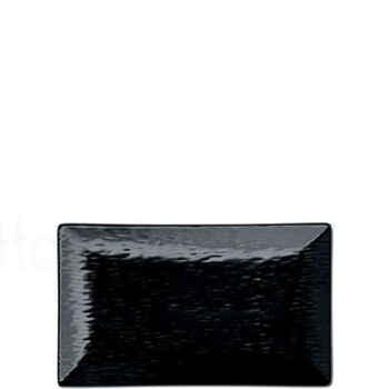 Πιάτο Ρηχό RELIEF [25x15 cm] Stoneware Μαύρο|Elite