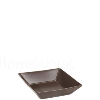 Πιάτο Βαθύ STONE [17,5x17,5 cm] Stoneware Καφέ Elite