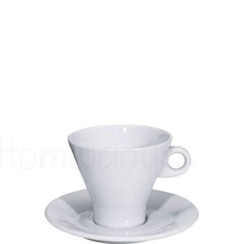 Πιατάκι Espresso 457 [Φ12,5 cm] Πορσελάνη Λευκό|Apulum