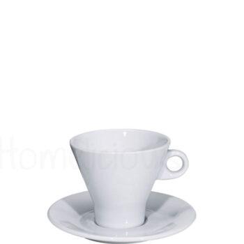 Φλιτζάνι & Πιατάκι Τσαγιού 457 25 cl Πορσελάνη Λευκό|Apulum