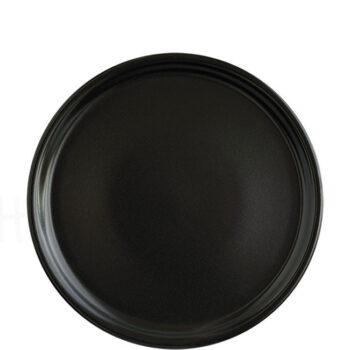 Πιατέλα Πίτσας FLAT [Φ30 cm] Stoneware Μαύρο|Elite
