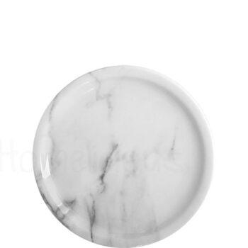 Πιάτο Ρηχό VIENNA 1254 Marble [Φ26 cm] Πορσελάνη Λευκό|Apulum