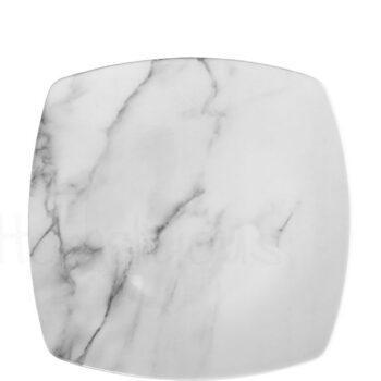 Πιάτο Ρηχό MARBLE Πορσελάνη Λευκό|Apulum