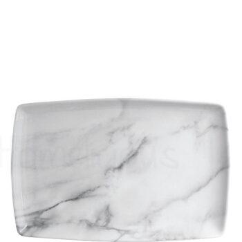 Πιατέλα MARBLE Πορσελάνη Λευκό|Apulum
