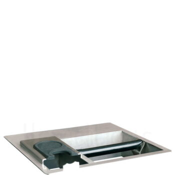 Knock Box COMBI ctc Εντοιχιζόμενο [32,2x30 cm] Inox Ασημί|Joe Fr