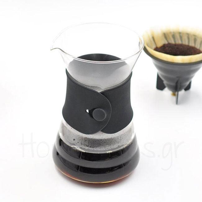 Drip Decanter V60 [02] 1-4 cup Γυαλί Μαύρο|Hario