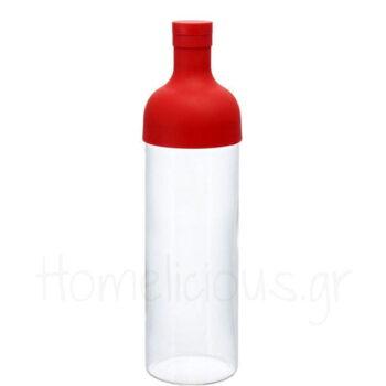 Filter Bottle TEA 750 ml Γυαλί Κόκκινο|Hario