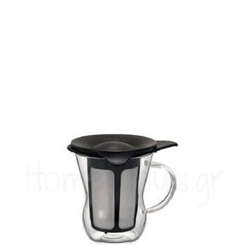 Handy Maker Tea 200 ml Γυαλί Μαύρο|Hario