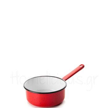 Κατσαρόλα Ρηχή VARIOS [Φ12 cm] Εμαγιέ Κόκκινο|Ibili