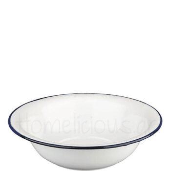 Μπολ Σαλάτας BLANCA [Φ32 cm] Εμαγιέ Λευκό|Ibili