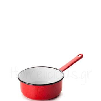 Κατσαρόλα Ρηχή VARIOS [Φ14 cm] Εμαγιέ Κόκκινο|Ibili
