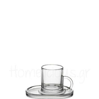 Φλιτζάνι Espresso RING (Set) 9 cl Γυαλί Διάφανο|La Rochere